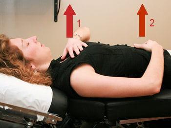 il est important de bien alterner entre les respirations thoracique et