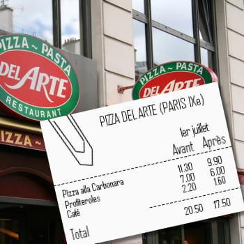 pizza del arte baisse surtout ses desserts tva r duite quels prix dans les cha nes de. Black Bedroom Furniture Sets. Home Design Ideas