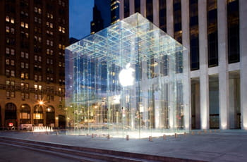 l'apple store de new york, sur la cinquième avenue