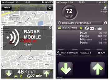 captures d'écran de l'application