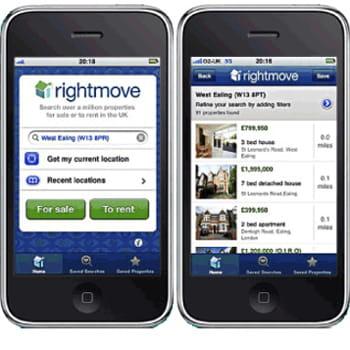 l'application iphone de rightmove