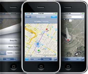 la localisation par gps avec l 39 iphone 2 apple compte bien s duire les entreprises jdn. Black Bedroom Furniture Sets. Home Design Ideas