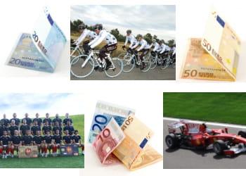 un partenariat sportif peut coûter jusqu'à 50millions d'euros par an.