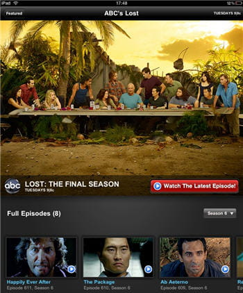 l'application abc player sur l'ipad