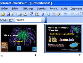l'option trieuse de diapositives dans powerpoint