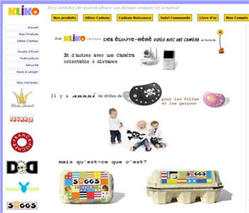home page de kliko.fr