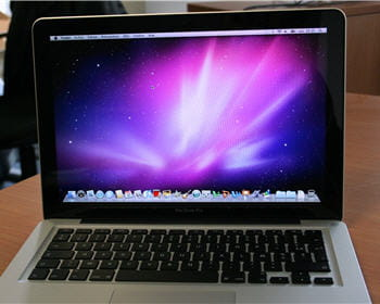 l'écran de démarrage de mac os x sur macbook pro