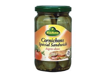 cornichons spécial sandwich kühne.