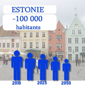 l'estonie perdra 100 000 habitants d'ici 2050.