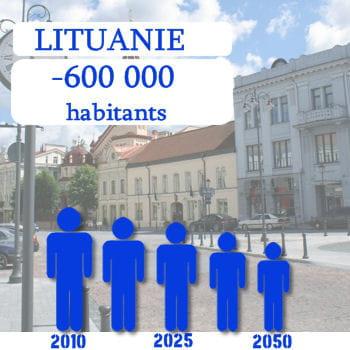 la lituanie perdra 600 000 habitants d'ici 2050.