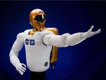 image fournie par le service de presse en ligne de la nasa, illustrant le robot