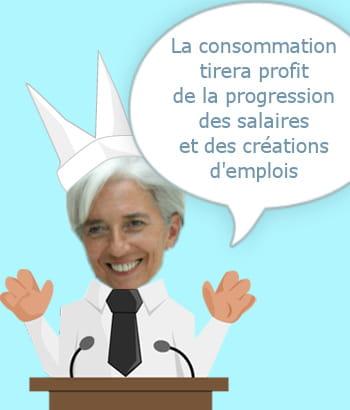 christine lagarde, ministre de l'economie, le 14 janvier 2011.