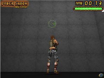 copie d'écran du jeu cybershock - panic station, jouable avec shockwave player.