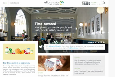 L'applis cation d'Elior Group muscle sa connaissance client