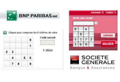 s curit des comptes en ligne bnp paribas vs soci t g n rale jdn. Black Bedroom Furniture Sets. Home Design Ideas