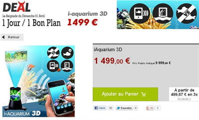 vente du diable propose un aquarium pour iphone.