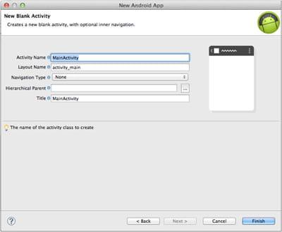 ecran permettant de configurer les spécificités de votre activité.