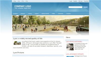 exemple de site internet créé depuis ezpublish