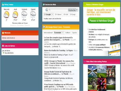 page d'accueil du bureau virtuel