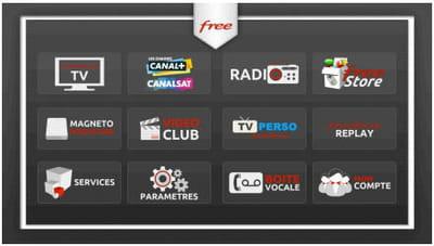 interface freebox tv
