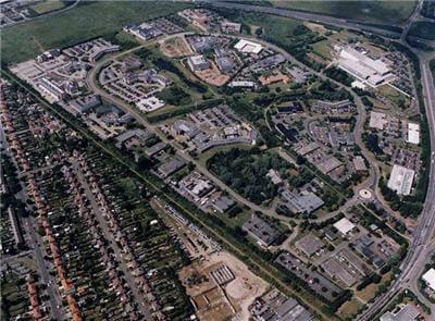 vue aérienne du cambridge science park
