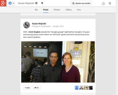 susan wojcicki, à côté d'un autre 'grand nom de google', associé à l'ingénierie
