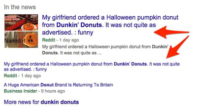 dunkin donuts google search