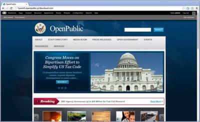 capture du site de démonstration d'openpublic.