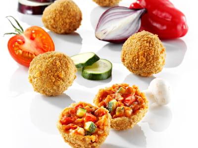 les snacks de légumes panés 'snex' de scelta mushrooms.