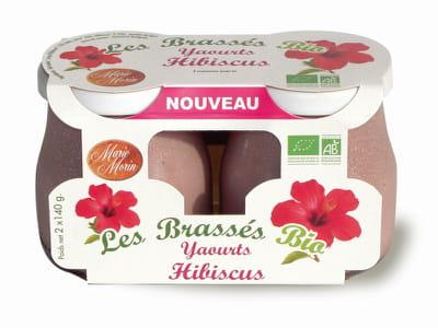 le yaourt brassé à l'hibiscus de marie morin.