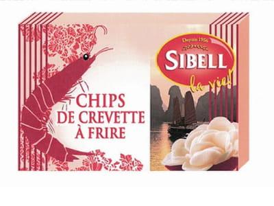 les chips de crevette à frire de sibell.