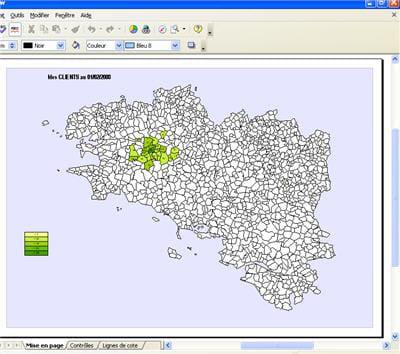 geooo gère le lien entre les infomations contenues dans les bases de données et