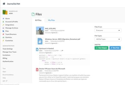 slack offre de multiples possibilités d'export de contenu.