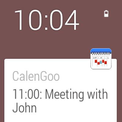 calengoo pour android wear peut intégrer un agenda.