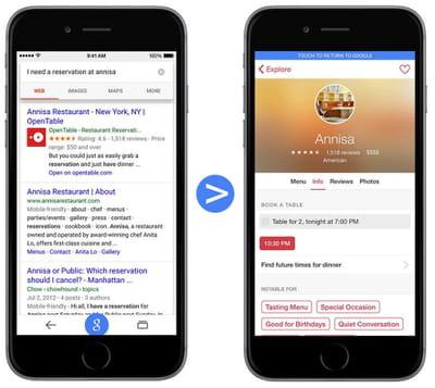 app indexing sur ios