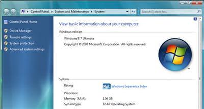 windows seven ultimate 32 bits