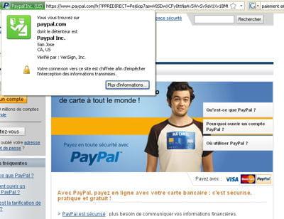 il est désormais possible simplement de vérifier l'identité d'un site. un outil