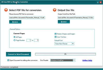 convertir un pdf en 2 clics