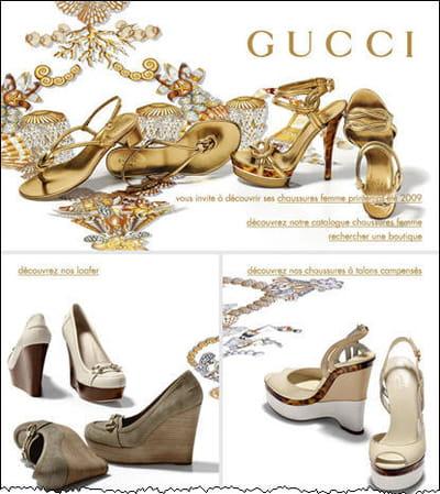 la campagne gucci chaussures femmes