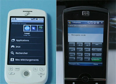 l'excellent android market et la sobriété de l'ipaq