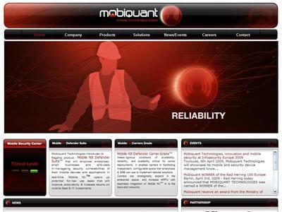la page d'accueil du site de mobiquant