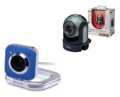 trust webcam live wb54 et microsoft lifecam vx5500