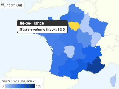 google insights for search permet de visualiser les recherches pour un mot clé