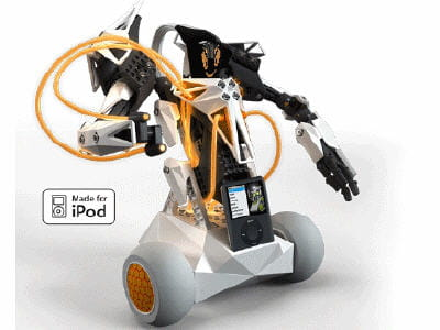 une fois branché, le robot, comme l'ipod sont dirigeable à la voix