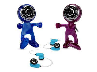 pack spécial skype comprenant 2 webcams au look amusant