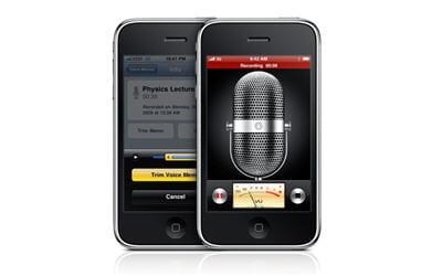iphone et sa fonction de prises de notes vocales
