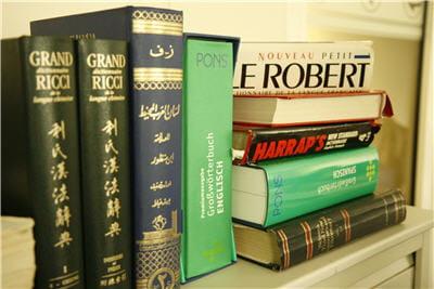 les dictionnaires utilisés par les équipes de l'éditeur