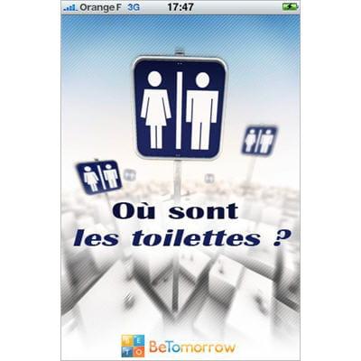 application permettant de localiser les toilettes les plus proches