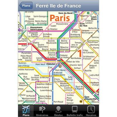 les plans de métro, rer, bus et autres regroupés dans une seule et même