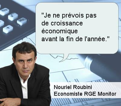 nouriel roubini, économiste au rge monitor.